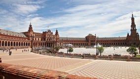 Plaza de Espana panorama stock video footage