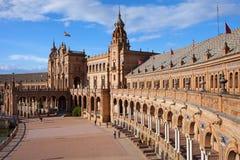 Plaza de Espana Pavilion in Seville Stock Images
