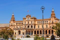Plaza de Espana (Quadrat von Spanien) in Sevilla, Spanien Lizenzfreie Stockfotografie