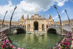 Plaza de Espana, quadrato di Sevilla, Spagna, Spagna, Siviglia Fotografia Stock