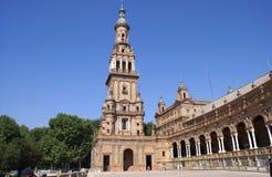 Plaza de Espana. A Renaissance Revival landmark in Seville, Spain Stock Photography