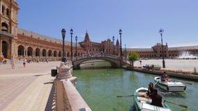 Plaza DE Espana rivier stock videobeelden
