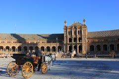 Plaza de Espana, Séville Photographie stock libre de droits
