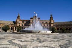 Plaza de Espana, Séville Photos stock