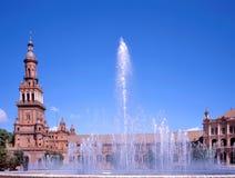 Plaza de Espana, Sevilha fotografia de stock