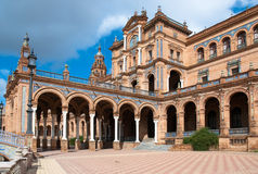 Plaza de Espana, Sevilha Imagem de Stock Royalty Free