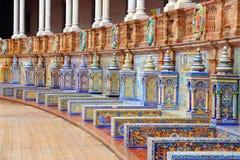 Plaza de Espana, Sevilha foto de stock
