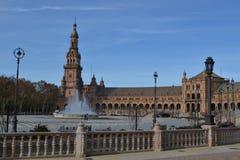 Plaza de Espana, Sevilha, Spain Foto de Stock Royalty Free