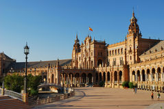 Plaza DE Espana in Sevilla Royalty-vrije Stock Foto