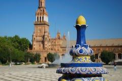 Plaza de Espana in Sevilla Lizenzfreies Stockbild