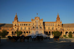 Plaza de Espana in Sevilla Stockfotos