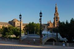 Plaza DE Espana in Sevilla Royalty-vrije Stock Fotografie