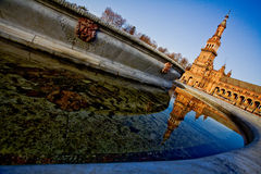 Plaza de Espana in Sevilla Stockbilder