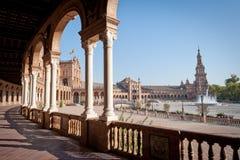 Plaza de Espana, Sevilla Imagen de archivo