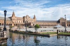 Plaza de Espana, Sevilla Royaltyfri Bild