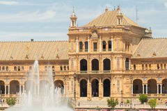 Plaza de espana sevilla Royalty Free Stock Photo