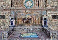 Plaza de Espana in Sevilla. City of Malaga shown in the famous Plaza de Espana in Seville, Spain Stock Photos