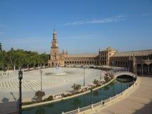 Plaza de Espana, Sevilla, España Fotos de archivo libres de regalías