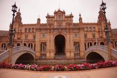 Plaza de Espana a Sevilla, Spagna Fotografia Stock