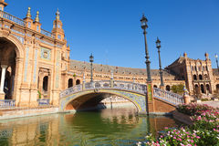 Plaza de Espana in Sevilla, Spain. Stock Photography