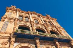 Plaza de Espana, Sevilla, Spanien Lizenzfreie Stockfotografie