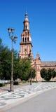 Plaza de Espana, Sevilla, Spanien. Stockbilder