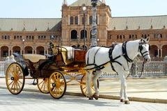 Plaza de Espana in Sevilla, Spanien lizenzfreies stockfoto