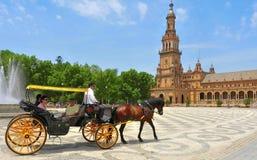 Plaza de Espana in Sevilla, Spanien Lizenzfreie Stockfotografie