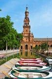 Plaza de Espana in Sevilla, Spanien Stockfotografie