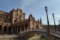 Plaza de Espana, Sevilla, Spanien Lizenzfreies Stockfoto