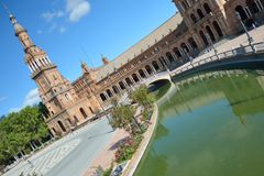 Plaza de Espana Sevilla, Spanien Lizenzfreies Stockbild