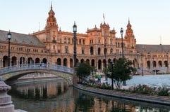 Plaza de Espana in Sevilla, Spanien Stockfotos
