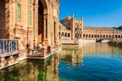 Plaza de Espana Sevilla Spanien Lizenzfreie Stockfotografie