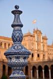 ?Plaza DE Espana?, Sevilla - Spanje Stock Fotografie