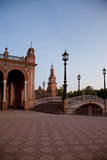 Plaza DE Espana, Sevilla, Spanje Stock Afbeeldingen