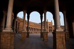 Plaza DE Espana, Sevilla - Spanje Royalty-vrije Stock Afbeeldingen