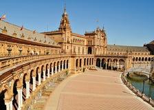 Plaza DE Espana - Sevilla - Spanje Stock Afbeeldingen