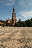 Plaza DE Espana in Sevilla, Spanje stock afbeeldingen