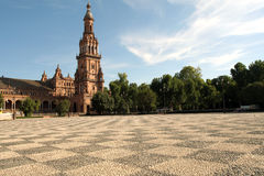 Plaza DE Espana in Sevilla, Spanje Royalty-vrije Stock Foto