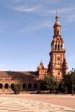 Plaza DE Espana in Sevilla, Spanje stock foto