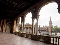 Plaza de Espana Sevilla view from open gallery Royalty Free Stock Photography