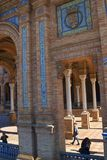 Plaza DE Espana in Sevilla werd gebouwd voor 1929 ibero-Americana Exposicion Royalty-vrije Stock Foto