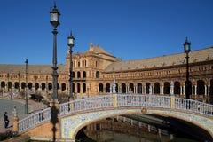 Plaza DE Espana in Sevilla werd gebouwd voor 1929 ibero-Americana Exposicion Stock Fotografie
