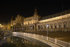Plaza de Espana Sevilla Andalucia in easter week Royalty Free Stock Image