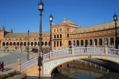 Plaza de Espana in Sevilla wurde für das Ibero-Americana Exposicion 1929 errichtet Stockbilder