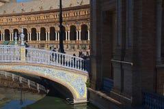 Plaza de Espana in Sevilla wurde für das Ibero-Americana Exposicion 1929 errichtet Stockbild