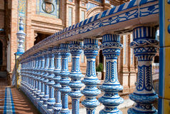 Plaza de Espana, Seville. Bridge in Plaza de Espana in Seville, Spain. An example of Moorish Revival style in Spanish architecture, built in 1928 for a World's Royalty Free Stock Photos