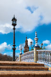 Plaza de Espana, Seville. Bridge in Plaza de Espana in Seville, Spain. An example of Moorish Revival style in Spanish architecture, built in 1928 for a World's Royalty Free Stock Photo