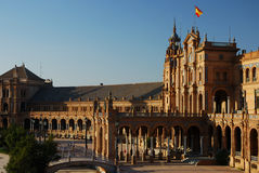 Plaza de Espana in Seville. Andalusia, Spain Royalty Free Stock Images