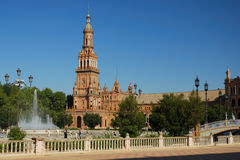 Plaza de Espana in Seville Stock Photos